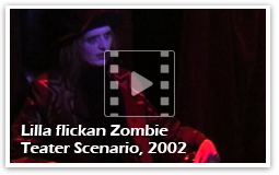 iodine Jupiter som Dr Death - Lilla flickan Zombie Teater Scenario, 2002. Filmat av Lina Löfström-Baker)