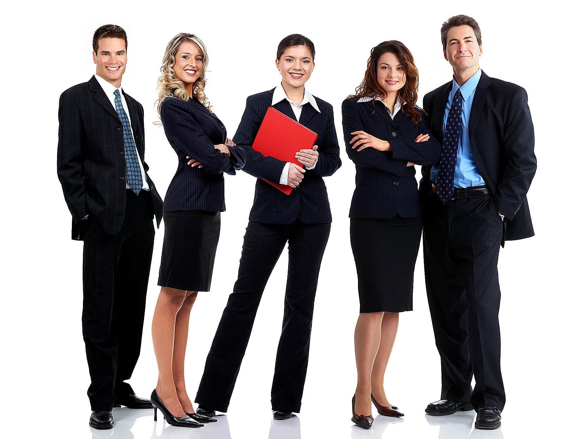 grupp snygga chefer