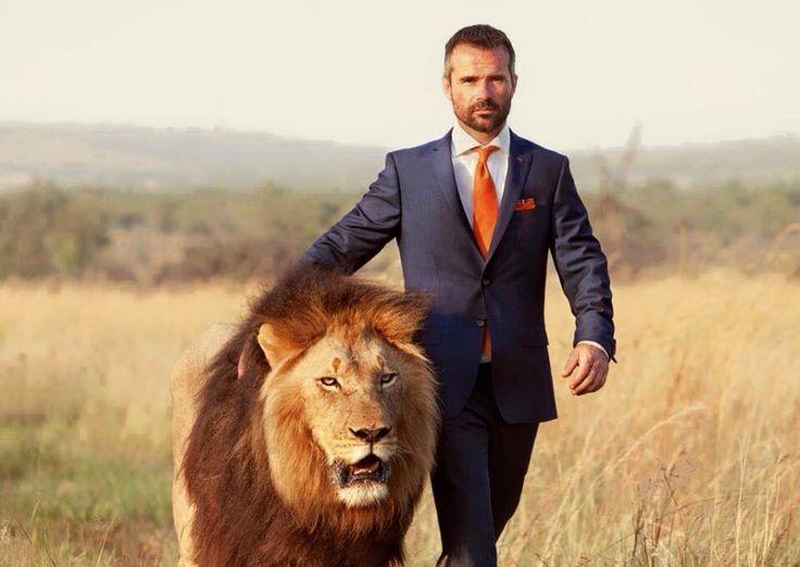 man med lejon