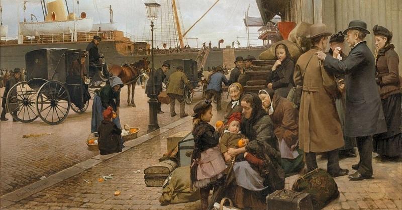 Udvandrere-på-Larsens-Plads_-Billede-af-Edvard-Petersen-1890